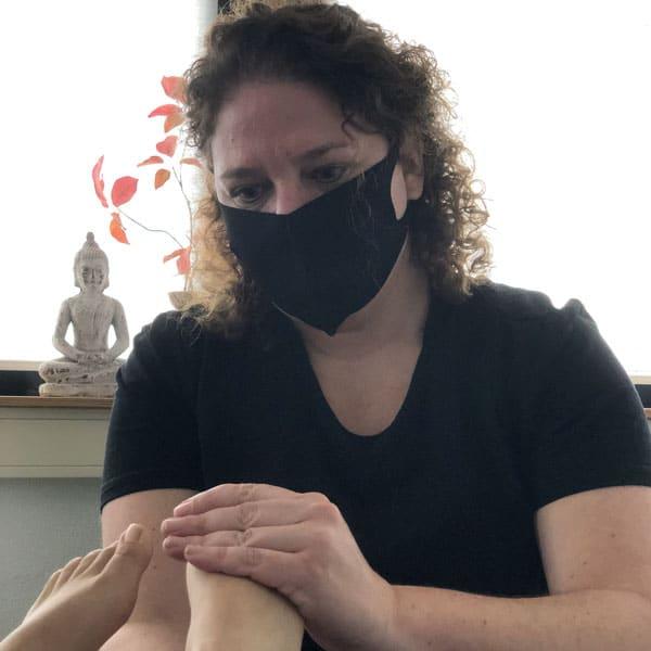 veilige voetmassage